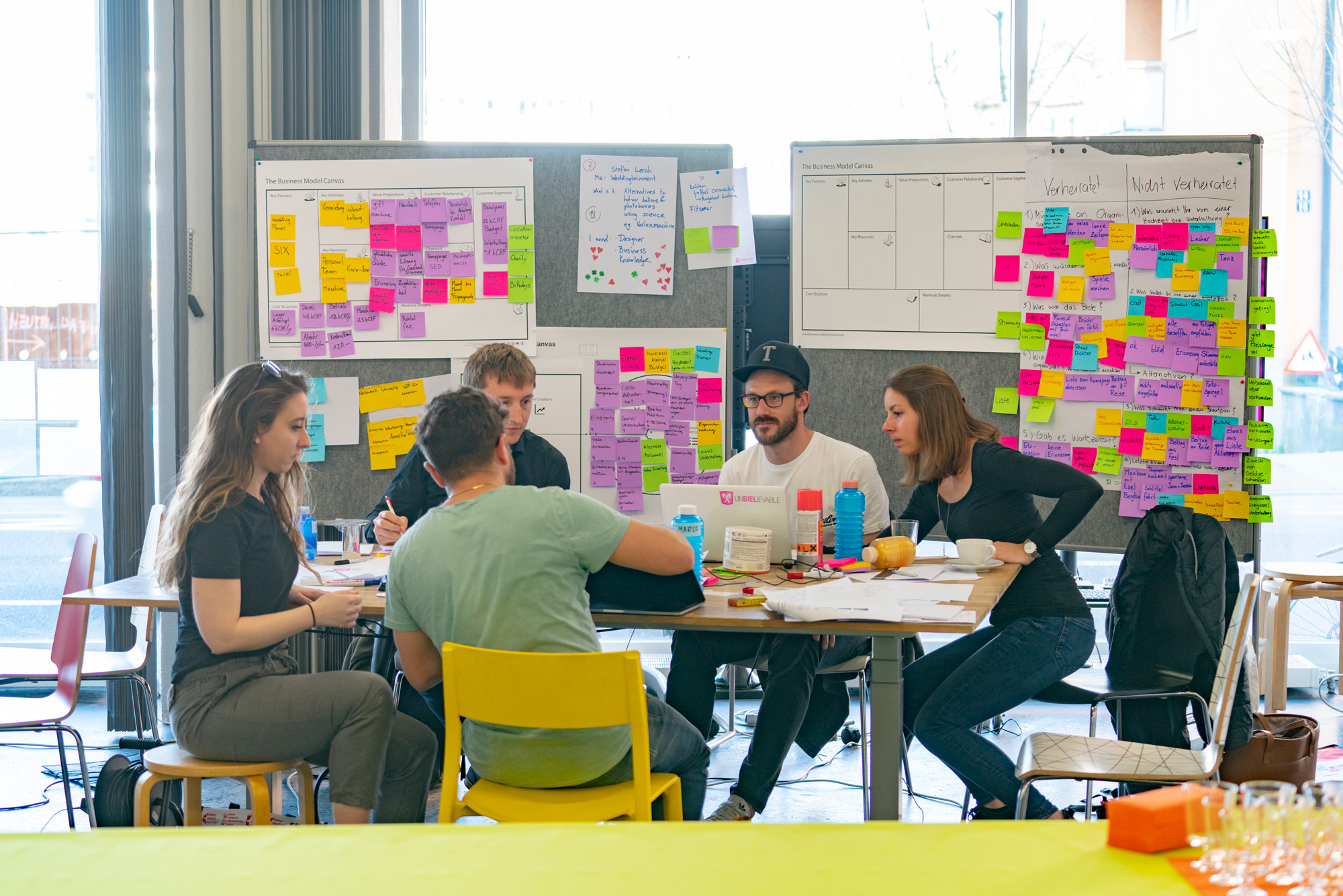 With methods like design thinking we find the right solution together.