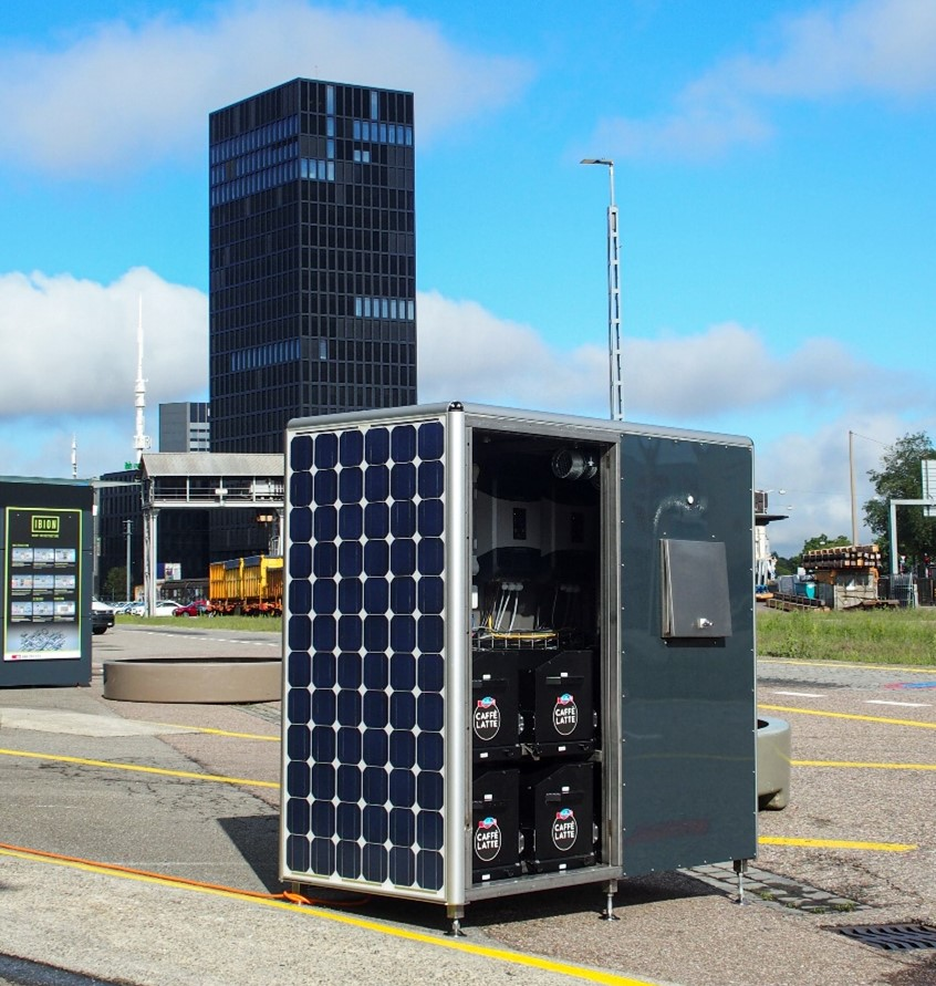 Demonstrator of EV charging station with PV and Second-Life batteries as additional power supply